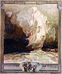 插图 从 Dante's 'Divine Comedy' , 天堂 , 颂歌 二十七