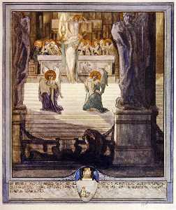 插图 从 Dante's 'Divine Comedy' , 天堂 , 颂歌 XXVIII
