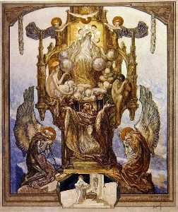 插图 从 Dante's 'Divine Comedy' , 天堂 , 颂歌 第八