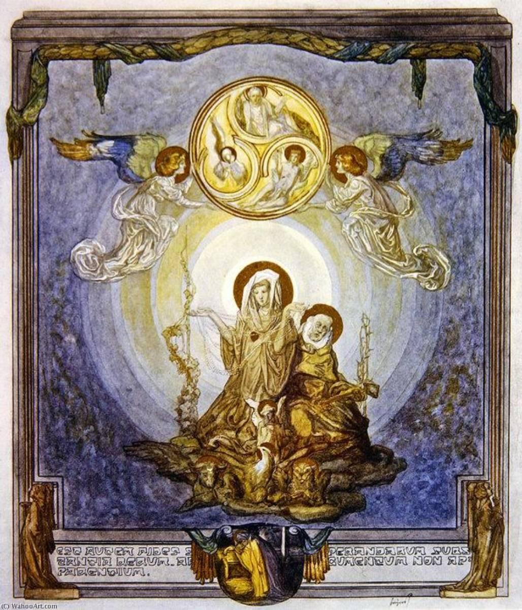 WikiOO.org – 美術百科全書 - 繪畫,作品 Franz Von Bayros - 插图 从 Dante's 'Divine Comedy' , 天堂 , 颂歌 二十四