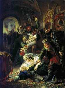 False Dmitry's Agents Murdering Feodor Godunov and his Mother