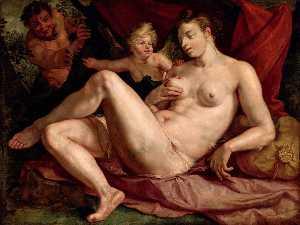 Vénus et l'Amour épiés par un satyre, dit autrefois Jupiter et Antiope Alternative title(s) Jupiter et Antiope
