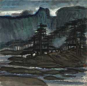 Houses in Pine Landscape