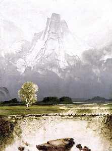 Mount Stetind with Birch