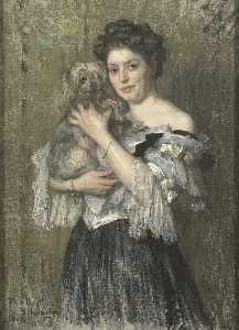 Maria Catharina Josephine Jordan wife of the painter George Hendrik Breitner