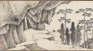 明 沈周 , 文徵明 合璧山水圖 卷 Joint Landscape