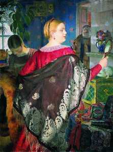 The Merchant's Wife with a Mirror