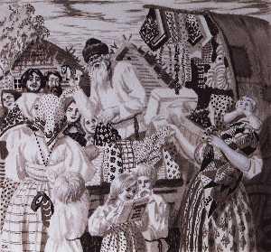 An Illustration for Nikolai Nekrasov's Poem Uncle Yakov