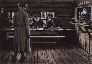 An Illustration for Ivan Turgenev's story The Singers