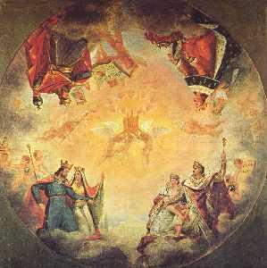 Deutsch Erste Skizze für die Kuppel des Pantheons