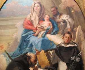 Madonna col bambino e tre santi
