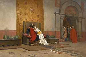 L'excommunication de Robert le Pieux (a replica of the painting by Jean Paul Laurens)