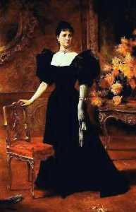 Portrait of María Ibarra de Matos