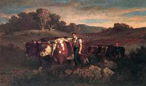 Herdsman with Cows