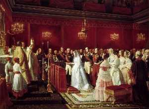 The Marriage of Duke of Aumale with Maria Carolina of Bourbon