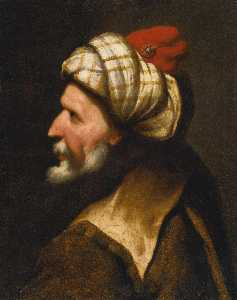 Profile of a Barbary pirate, traditionally identified as Barbarossa