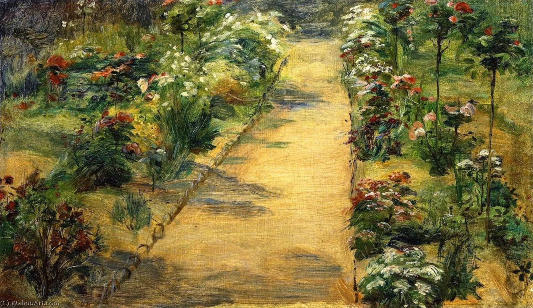 Wikioo.org - The Encyclopedia of Fine Arts - Painting, Artwork by Marie Bracquemond - Landscape Garden Path