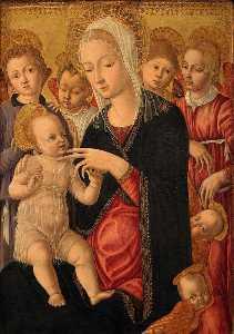 Madonna and Child with Angels and Cherubim