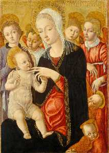 Madonna and Child with Angels and Cherubi