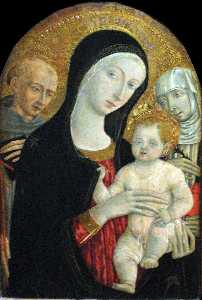 Madonna and Child with Saint Francis and Catherine of Siena