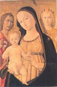 Madonna and Child with Saint John the Baptist and Saint Michael the Archangel