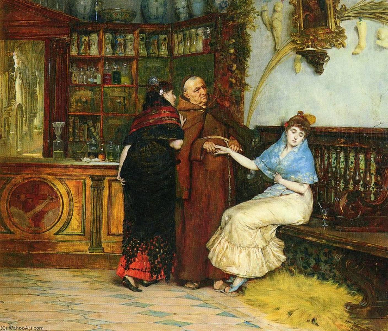 Wikioo.org - The Encyclopedia of Fine Arts - Painting, Artwork by Vicente Palmaroli Y Gonzalez - Lovesick