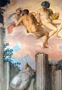 Frescoes in the Hall of Olympus (detail)