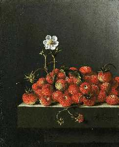 Still life with wild strawberries