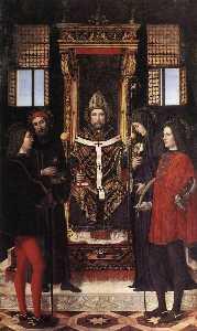 St Ambrose with Saints