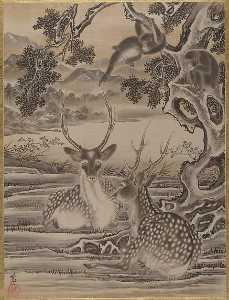 Deer and Monkeys