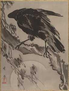 月に鴉図 Crow and the Moon
