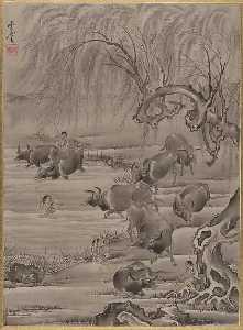 Buffalo and Herdsman