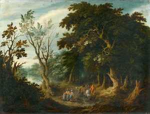 Travellers on a Forest Path