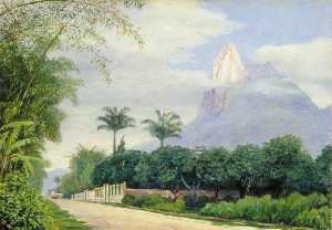 View of the Corcovado Mountain near Rio de Janeiro, Brazil