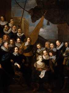 Captain Bicker's Company Waiting to Welcome Marie de Medicis in September 1638