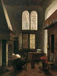 Interior Scene (Woman Seated by a Hearth)