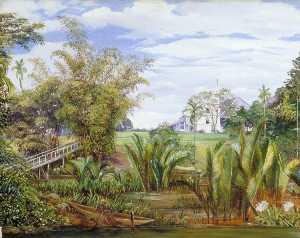 The Istana from the Slanting Bridge, Sarawak, Borneo