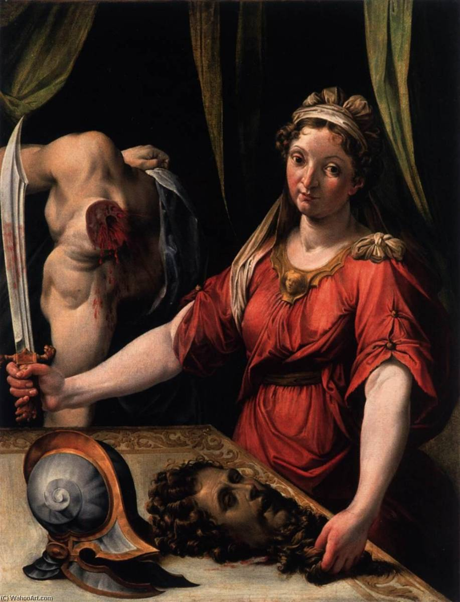 Wikioo.org - The Encyclopedia of Fine Arts - Painting, Artwork by Lorenzo Sabatini - Judith with the Head of Holofernes