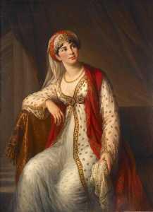 Portrait de Mme Grassini dans le rôle de Zaïre (gravé en 1806 par Reynolds)