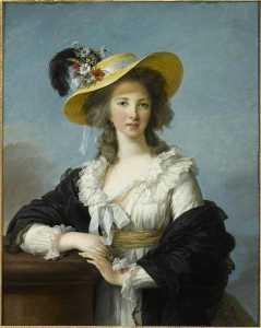 Yolande Martine Gabrielle de Polastron, duchesse de Polignac Portrait au chapeau de paille