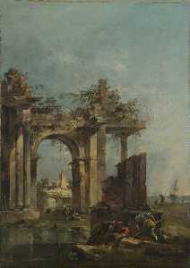 A Caprice with Ruins on the Seashore