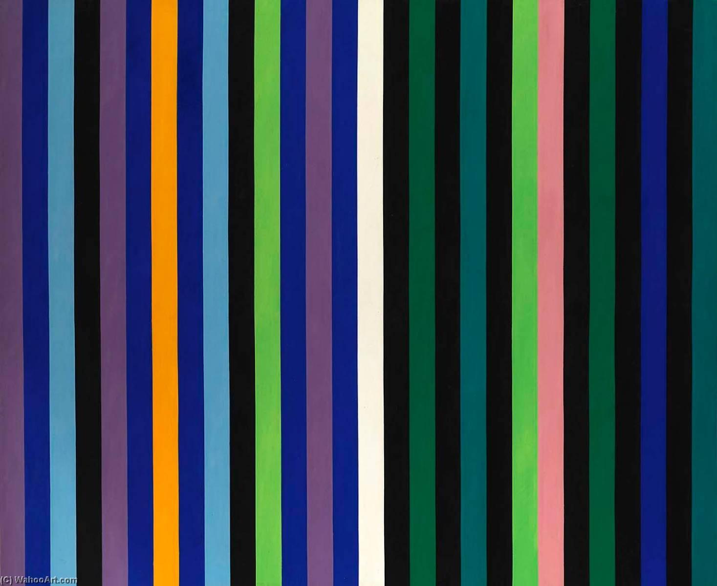 WikiOO.org - Енциклопедія образотворчого мистецтва - Живопис, Картини  Gene Davis - Two Part Blue