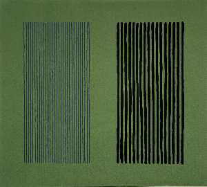 Untitled (Blue, Black and Green)
