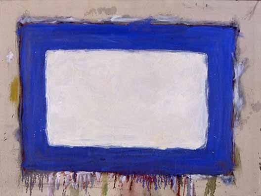WikiOO.org - Енциклопедія образотворчого мистецтва - Живопис, Картини  Gene Davis - Blue Rectangle II