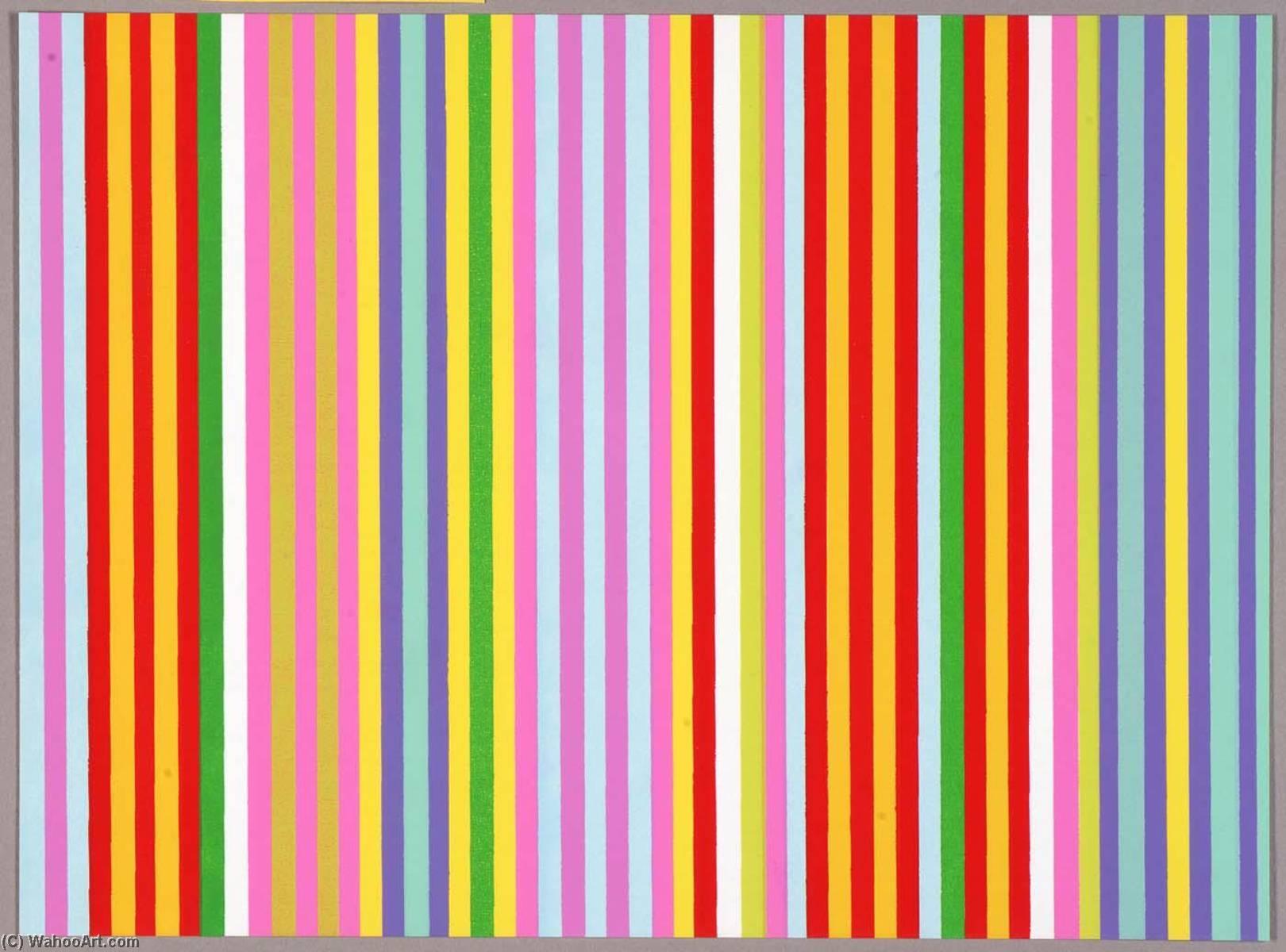 WikiOO.org - Енциклопедія образотворчого мистецтва - Живопис, Картини  Gene Davis - Powwow