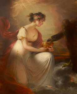 Frances Wyndham (1789–1848), Later Lady Burrell, as Hebe