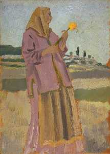 Woman with a Daffodil