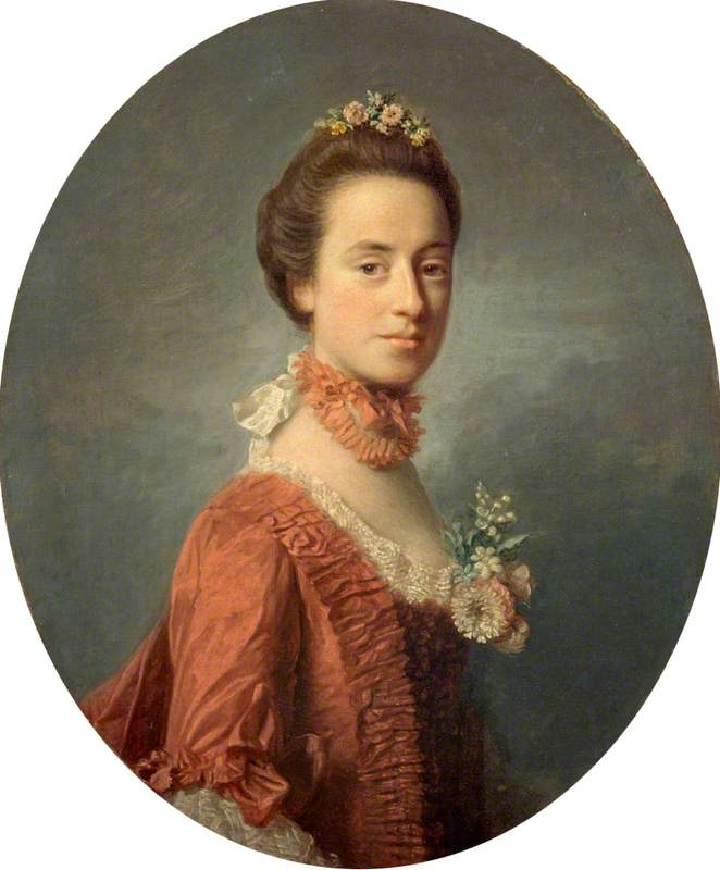 Wikioo.org - The Encyclopedia of Fine Arts - Painting, Artwork by Allan Ramsay - Mary Digges (1737–1829), Lady Robert Manners