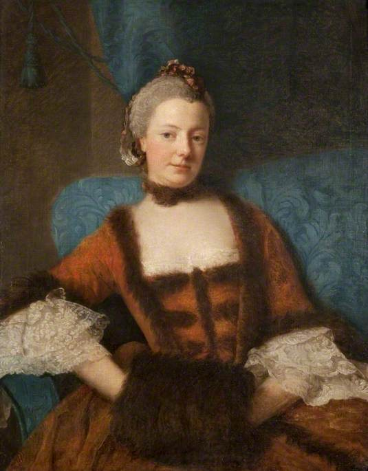Wikioo.org - The Encyclopedia of Fine Arts - Painting, Artwork by Allan Ramsay - Henrietta Diana (1728–1761), Dowager Countess of Stafford