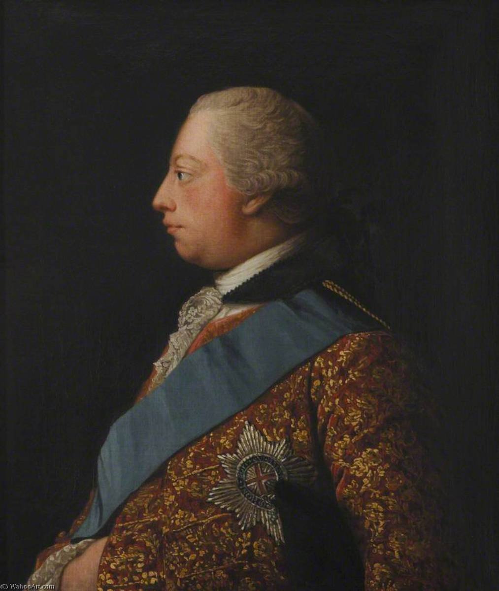 Wikioo.org - The Encyclopedia of Fine Arts - Painting, Artwork by Allan Ramsay - George III (1738–1820)